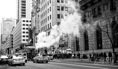 Steaming On 5th Avenue Art Print by John Rizzuto