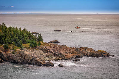 Quoddy Photograph - Steaming Through Quoddy Narrows by Rick Berk