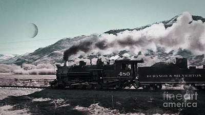 Photograph - Steaming Towards The Moon by Janice Rae Pariza