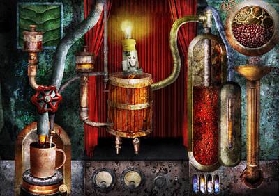 Steampunk - Coffee Break Art Print by Mike Savad