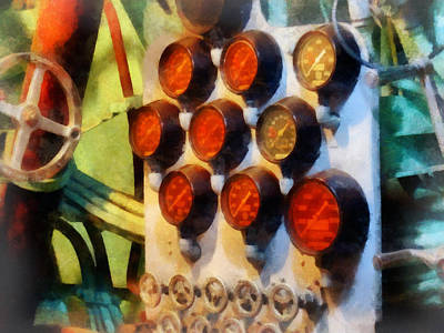 Photograph - Steampunk - Gauges In Torpedo Room by Susan Savad