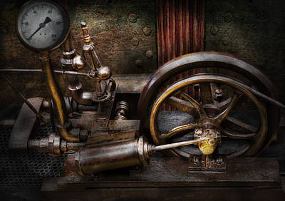Steampunk - The Contraption Art Print by Mike Savad