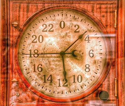 Photograph - Steampunk - 24 Hour Antique Clock by Marianna Mills