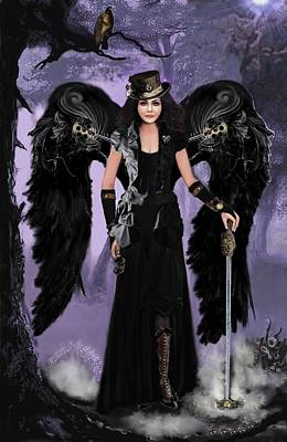 Steampunk Angel Art Print by Melodye Whitaker