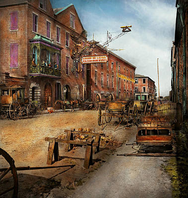 Steampunk Photograph - Steampunk - Archibald Mcleish's Vulcan Iron Works 1865 by Mike Savad