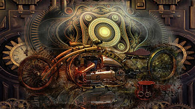 Digital Art - Steampunk Art  by Louis Ferreira
