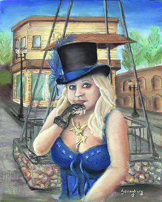 Steampunk Paintings - Steampunk Becky by Steve Ellenburg