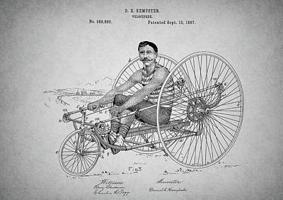 Steampunk Bicycle Patent Art Print by Dan Sproul
