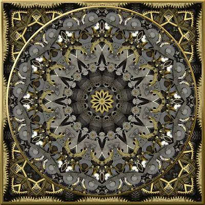 Digital Art - Steampunk Brass And Steel No. 1 by Charmaine Zoe
