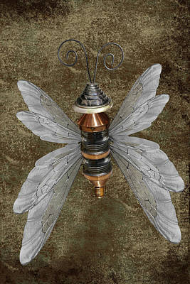 Photograph - Steampunk Butterfly by Mihaela Pater