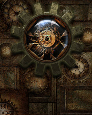Steampunk Royalty-Free and Rights-Managed Images - Steampunk Clockwork by Suzanne Amberson