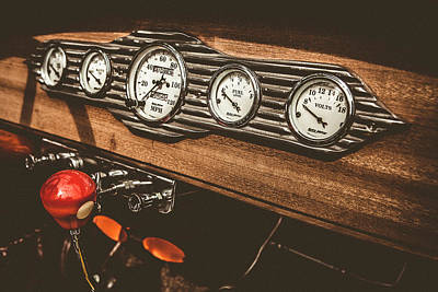 Photograph - Steampunk Dashboard by Caitlyn Grasso