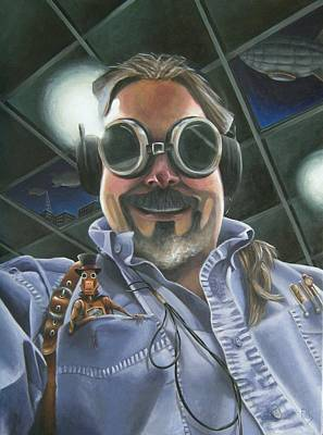 Goggle Painting - Steampunk Dave by Eva Folks