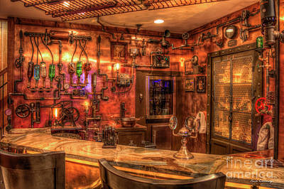 Photograph - Steampunk Design Mancave Bar Art by Reid Callaway