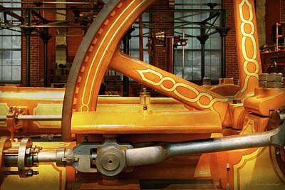 Photograph - Steampunk - Engine - You Are So Flywheel by Mike Savad
