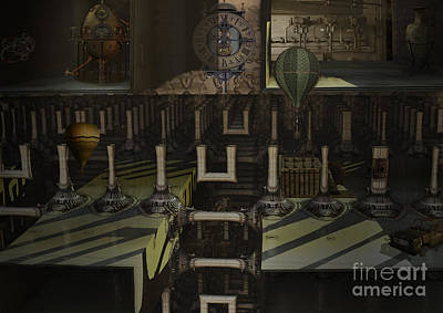 Digital Art - Steampunk Factory by Melissa Messick