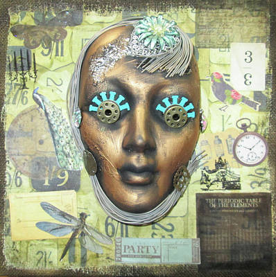 Electronics Mixed Media - Steampunk Girl Robot by Christine Jarvis
