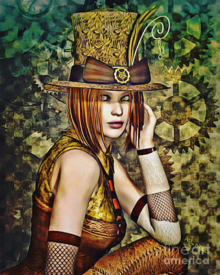 Digital Art - Steampunk Girl Two by Alicia Hollinger