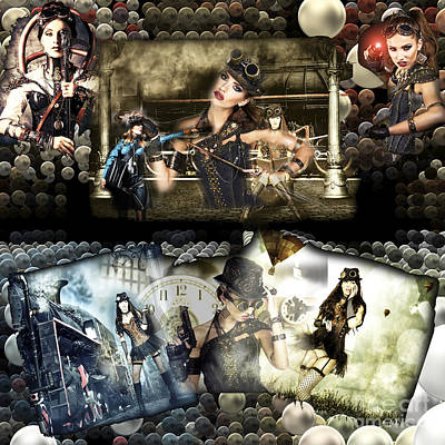 Photograph - Steampunk Girls by John Rizzuto