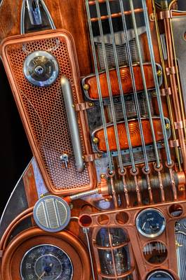 Steampunk Royalty-Free and Rights-Managed Images - Steampunk Guitar 2 by Marianna Mills