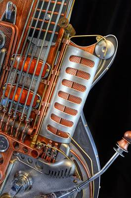Steampunk Royalty-Free and Rights-Managed Images - Steampunk Guitar by Marianna Mills