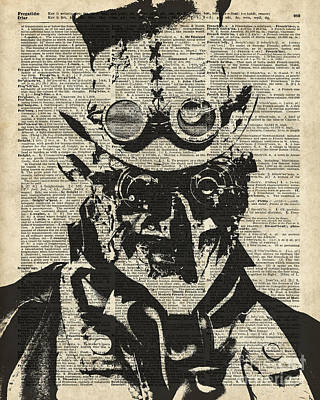 Steampunk Guy Art Print by Jacob Kuch