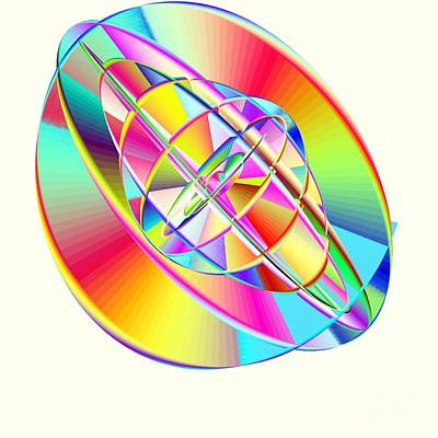 Steampunk Gyroscopic Rainbow Art Print by Michael Skinner