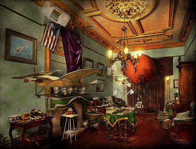 Steampunk - Hall Of Wonderment 1908 Art Print by Mike Savad