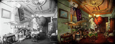 Photograph - Steampunk - Hall Of Wonderment 1908 - Side By Side by Mike Savad