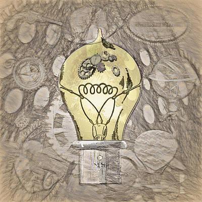 Steampunk Ideation 2 - Da Vinci Styling Art Print