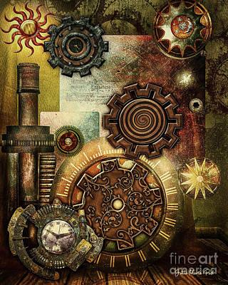 Digital Art - Steampunk by Jutta Maria Pusl