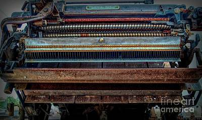 Photograph - Steampunk Linotype Type Setter by Luther Fine Art
