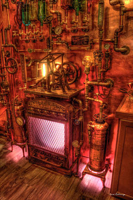 Photograph - Steampunk Liquor Still Steampunk Bar Art by Reid Callaway