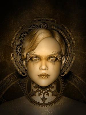 Digital Art - Steampunk Machine by Britta Glodde