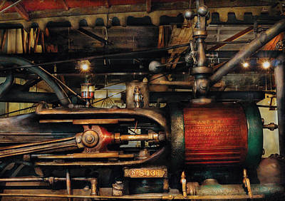 Steampunk - No 8431 Art Print by Mike Savad