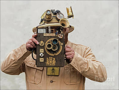 Photograph - Steampunk Photographer by David  Hollingworth