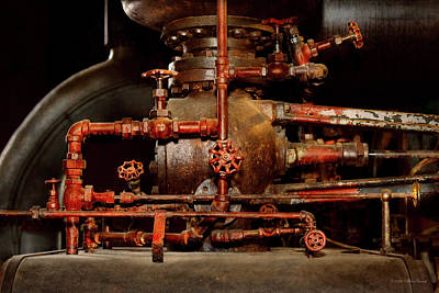 Photograph - Steampunk - Pipe Dreams by Mike Savad