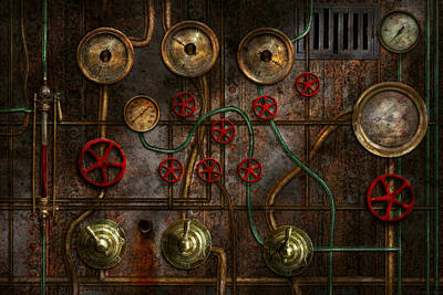 Photograph - Steampunk - Plumbing - Job Jitters by Mike Savad