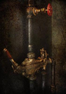 Brakeman Photograph - Steampunk - Plumbing - Number 4 - Universal  by Mike Savad