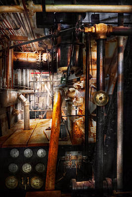 Which Way Photograph - Steampunk - Plumbing - Pipes by Mike Savad