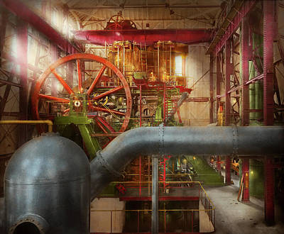 Photograph - Steampunk - Pump - Wheel Of Progress 1906 by Mike Savad