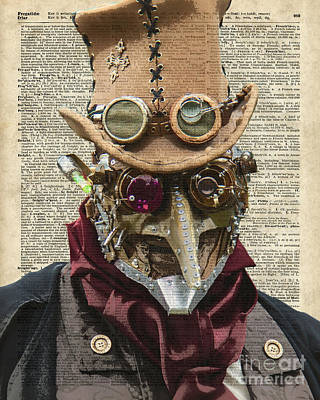 Machinery Mixed Media - Steampunk Robot by Jacob Kuch