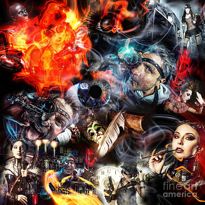 Digital Art - Steampunk Science by John Rizzuto