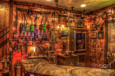 Steampunk Royalty-Free and Rights-Managed Images - Steampunk Speakeasy 2 ManCave Art by Reid Callaway