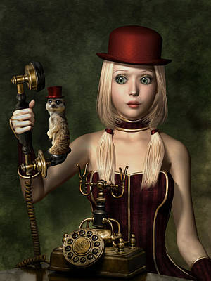 Surrealistic Mixed Media - Steampunk Surprise by Britta Glodde