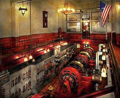 Photograph - Steampunk - The Engine Room 1974 by Mike Savad