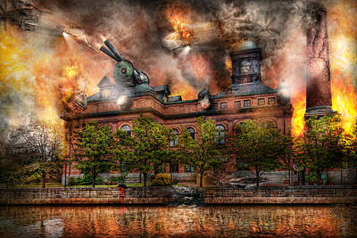 Photograph - Steampunk - The War Has Begun by Mike Savad