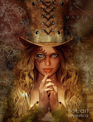 Steampunk Royalty-Free and Rights-Managed Images - Steampunk Traveler by Shanina Conway