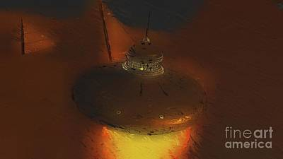 Science Fiction Royalty-Free and Rights-Managed Images - Steampunk UFO by Raphael Terra and Mary Bassett by Raphael Terra
