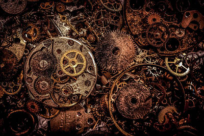 Photograph - Steampunk - Watch Part by Lilia D